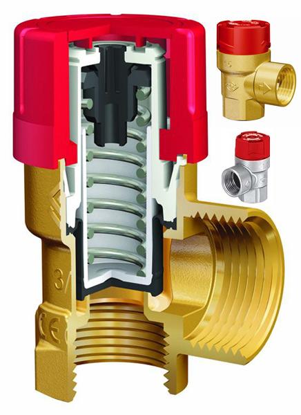 Предохранительный клапан для системы отопления SVI в разрезе