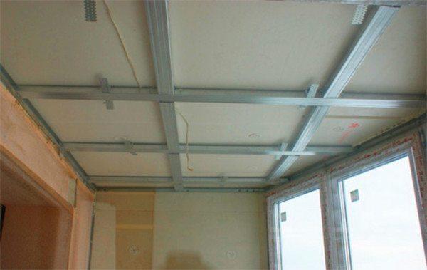 Пример каркаса на потолке