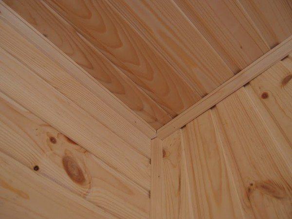 Пример установки деревянных реек
