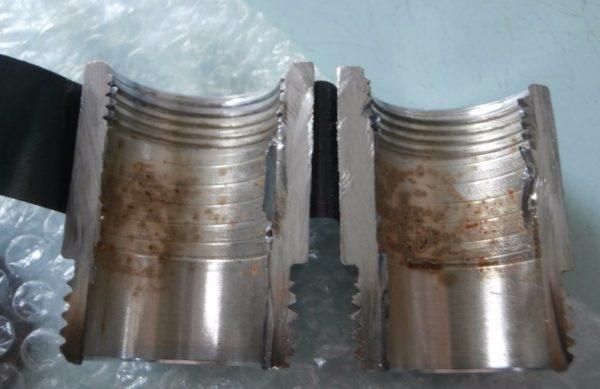 Процессы протекают не только снаружи, но и внутри: фото резьбовой части в разрезе
