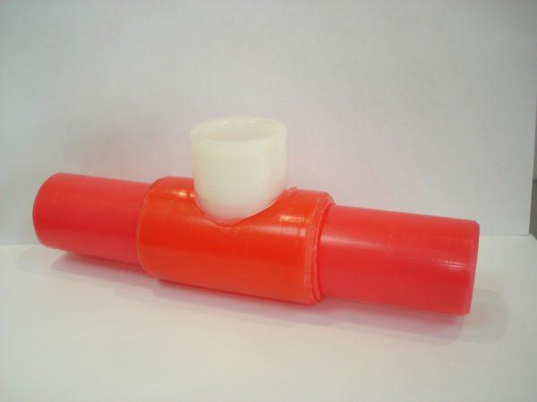 Раструбное сварное соединение на трубе PERT.