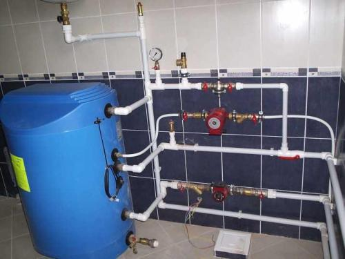 Разводка отопления и ГВС от котла