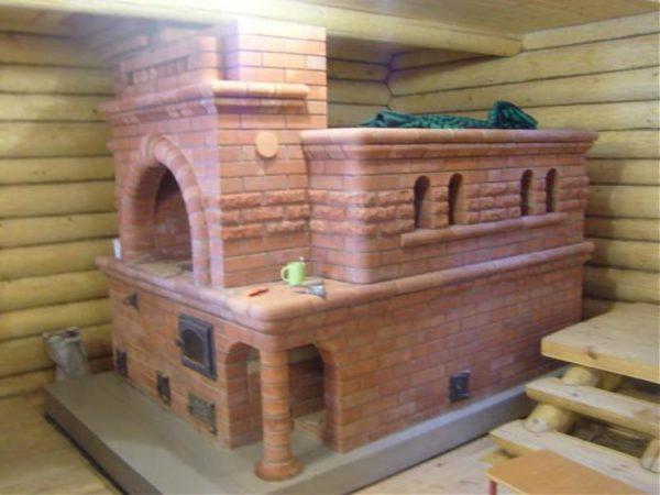 Русской печью можно обогреть дом площадью более 100 м².