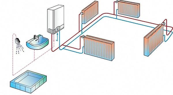 Схема отопления электрическим котлом