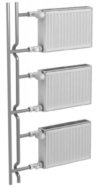 схема подключения стальных радиаторов отопления