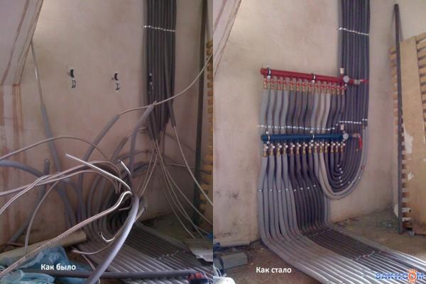 схема системы отопления одноэтажного дома