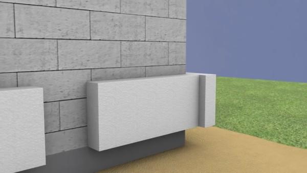 Схема укладки плит первого ряда