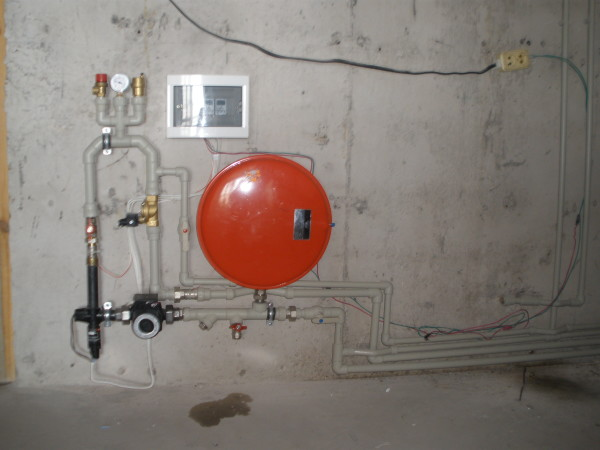 Система нагрева воды на базе электродного котла
