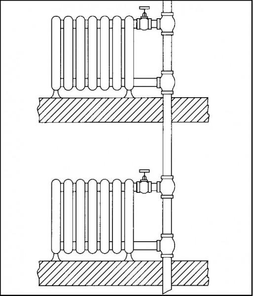 система отопления частного дома ленинградка
