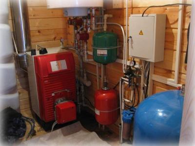 Система отопления, функционирующая на жидких веществах.