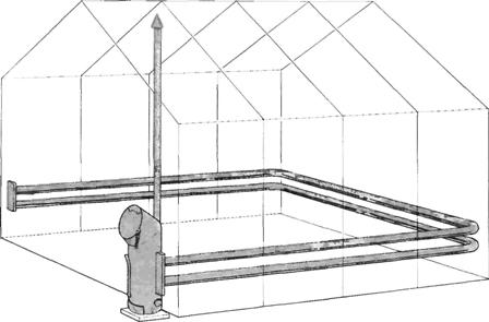 Система печного отопления в теплице