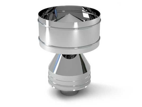 Специальный аэродинамический колпак полностью исключает любые проблемы с ветром