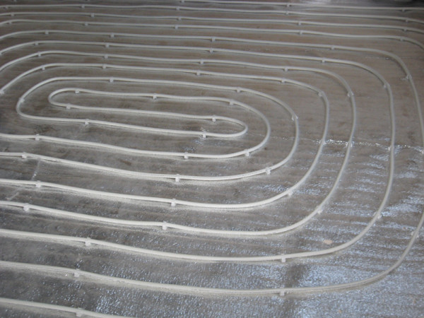 Спираль водяного тёплого пола