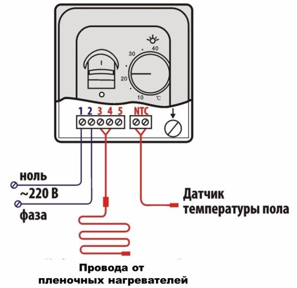 Так система подключается к терморегулятору