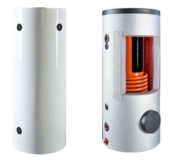 Теплоаккумулятор: внешний вид и разрез.