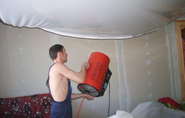 Тепловая пушка обязательна для монтажа натяжного потолка — теперь вы сможете сделать такой инструмент сами