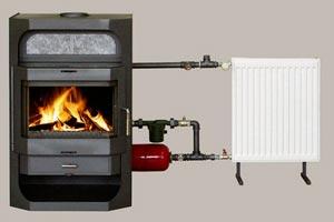 Тепловой агрегат, подключенный к обогревательной схеме дома