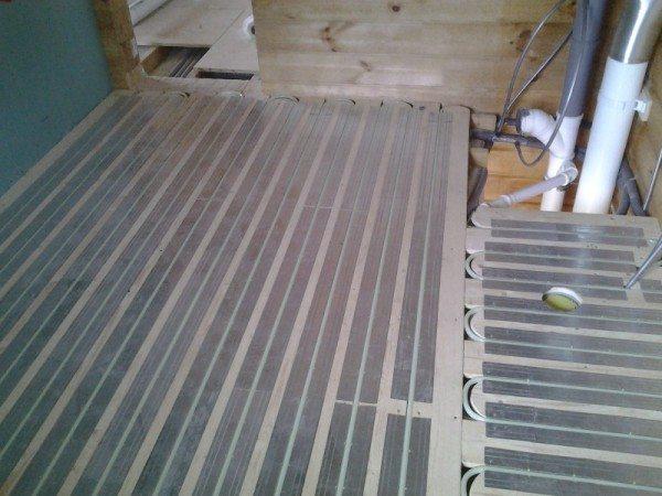 Теплый пол в деревянном доме.