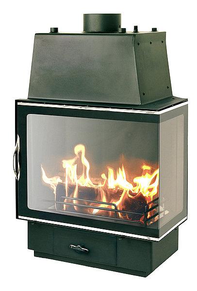 Уголь дает более высокую температуру сгорания, но и разжечь его труднее. Большая часть каминов работает только на дровах.