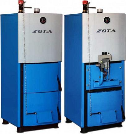 Универсальный котел для отопления домов ZOTA (дрова – электричество)