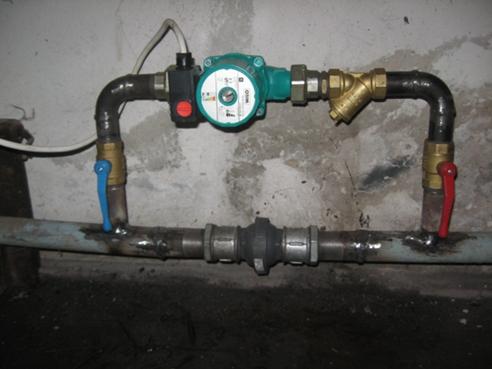 установка насоса на отопление