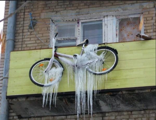 Велосипед гораздо лучше хранить в утеплённом помещении