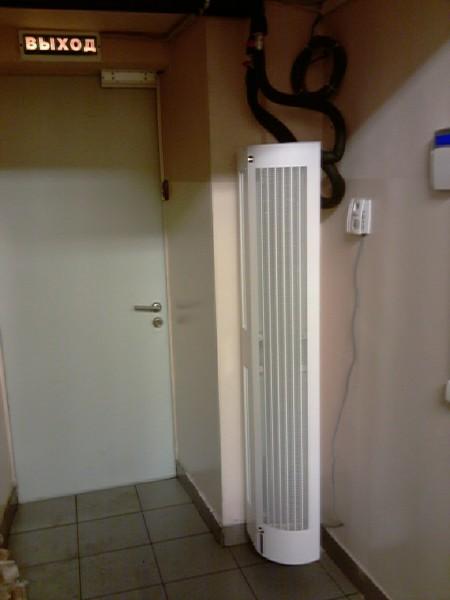 Вертикальная тепловая завеса.