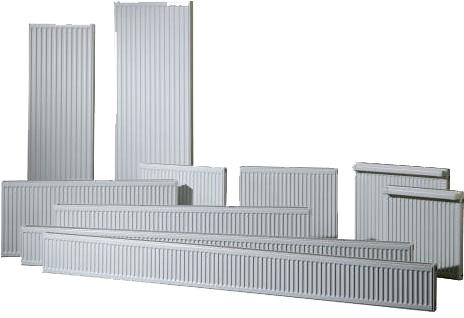 Высокие (вертикальные) батареи отличаются лишь пропорциями.