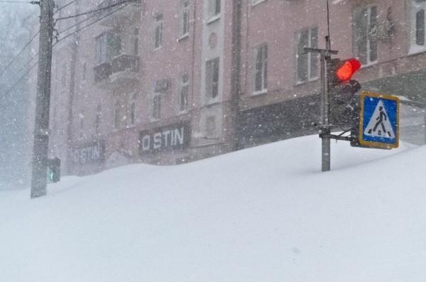 Зима в Комсомольске-на-Амуре - городе, в котором я прожил большую часть жизни.