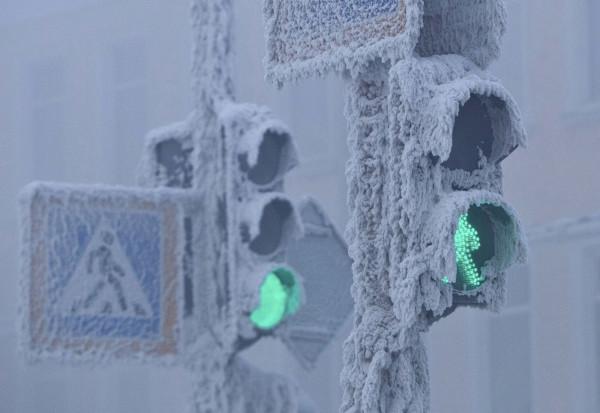 Зима в Якутске.