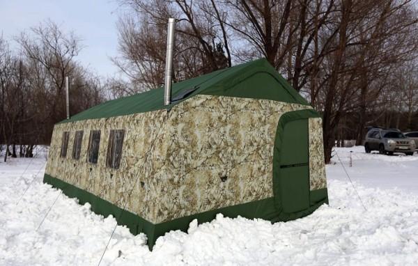 Зимний вариант большой походной бани.