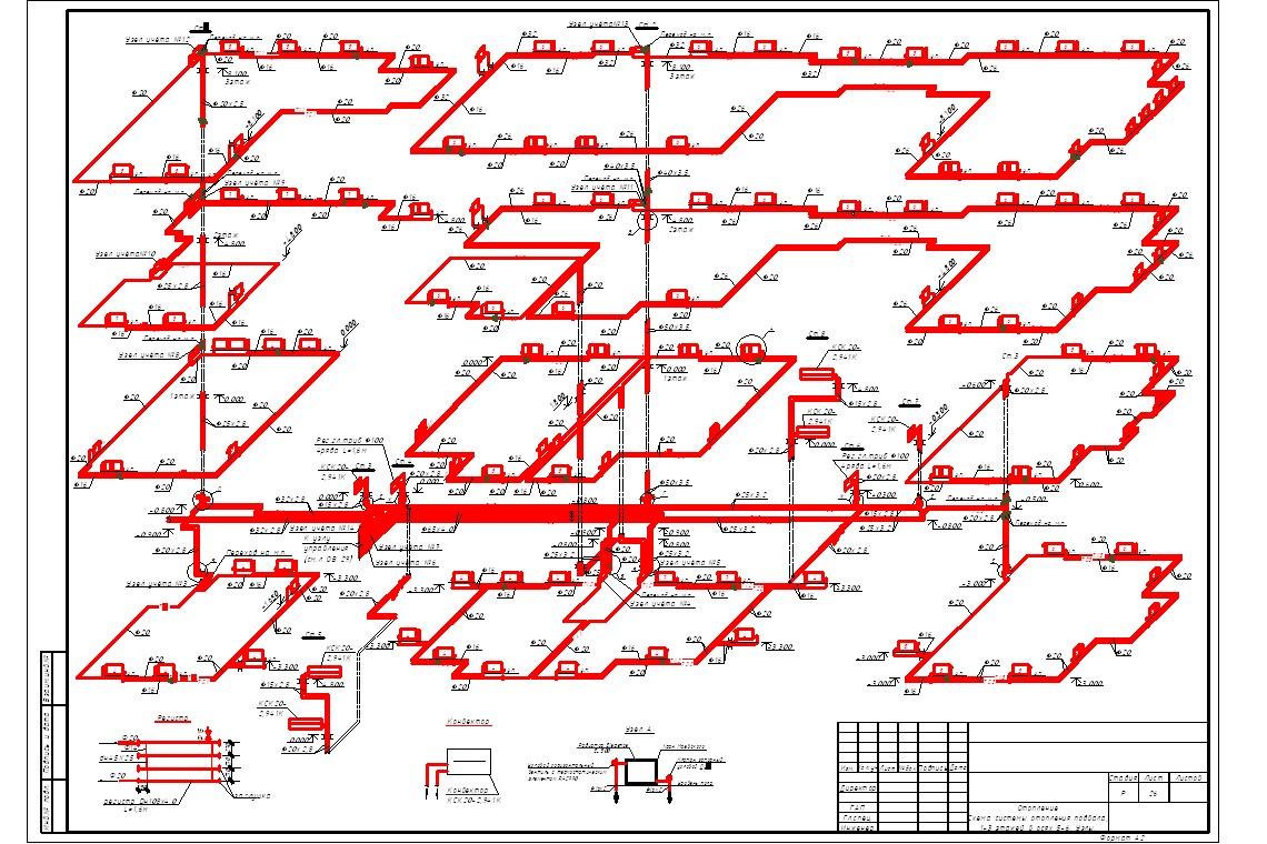 схема открытой системы водоснабжения жилых домов