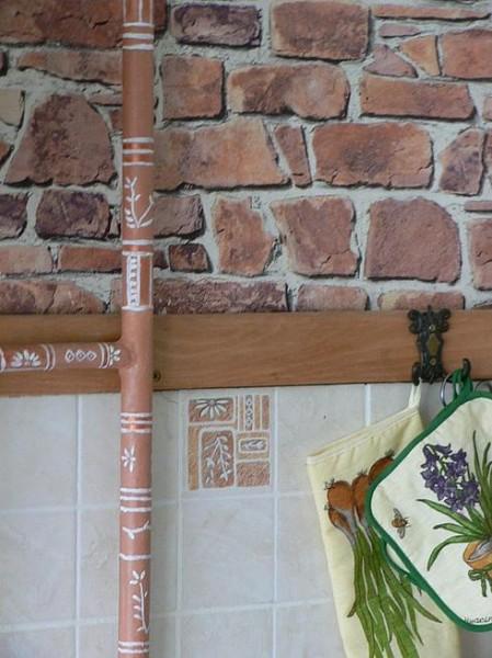 декорирование трубы отопления