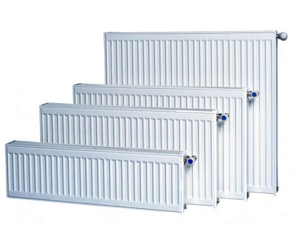 Диапазон размеров панельных стальных радиаторов