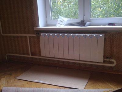 Для обогревания используются металлические трубопроводы.