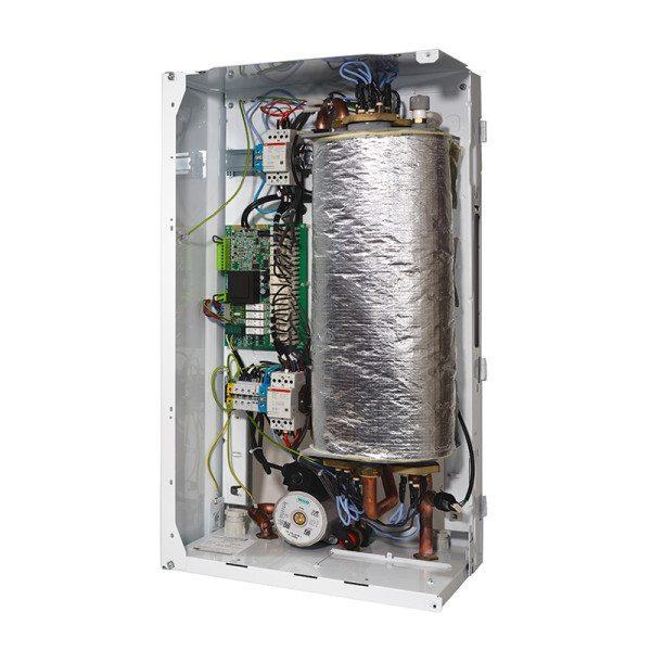 Для сокращения нецелевых потерь тепла теплообменник котла изолируется минватой или теплофолом (фольгированным утеплителем на основе термостойкого вспененного полимера).