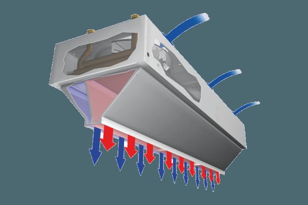 Два разнотемпературных потока снижают энергозатраты, что оправдано при круглосуточной эксплуатации оборудования.