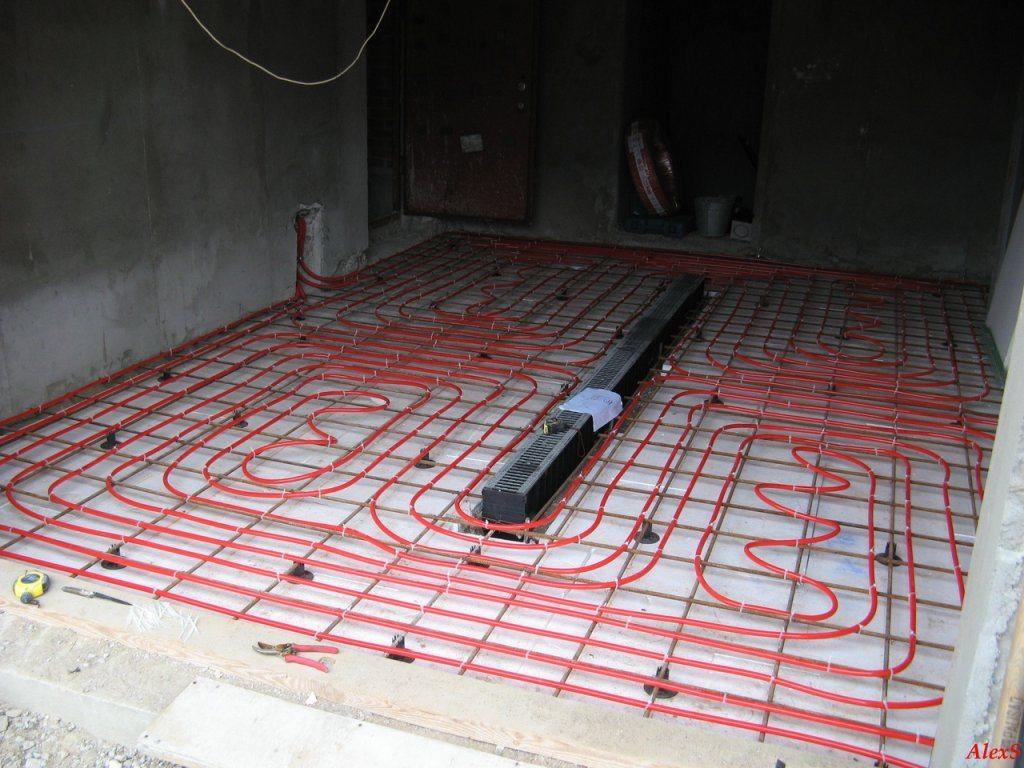 Теплый пол в гараже фото
