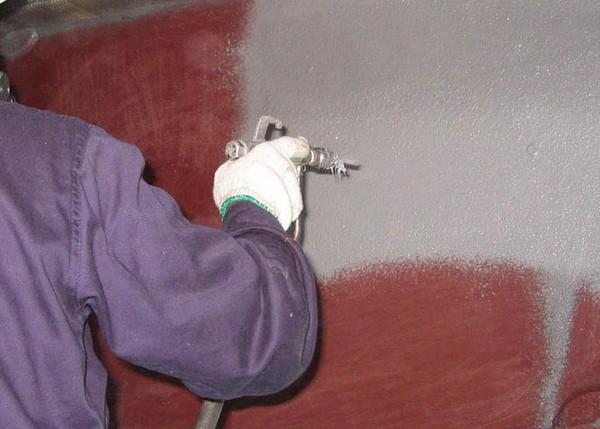 Если есть краскопульт, то работа упрощается