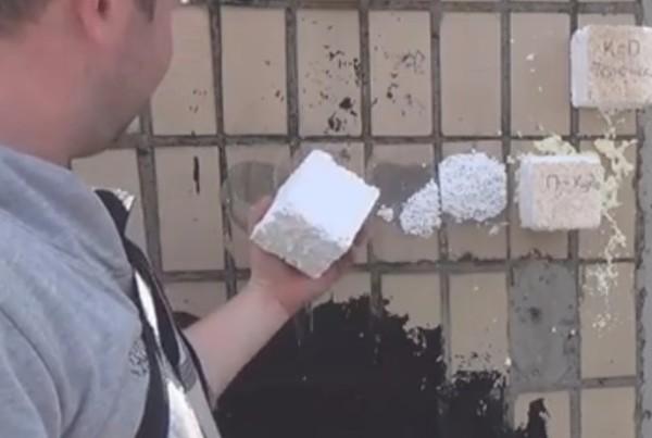 Если клей держит прочно, а разрывается пенопласт – можно приступать к утеплению