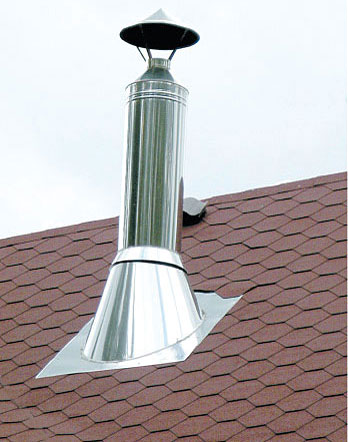 Это украшение на крыше - неизменный атрибут отопления твердым топливом.