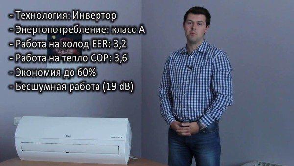 Этот кондиционер отдает 3,6 кВт тепла на киловатт потребляемой мощности.
