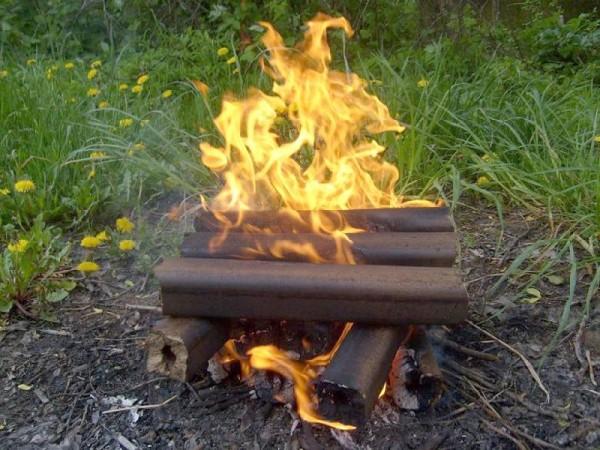 Евродрова можно использовать не только в печи, но и для пикника.