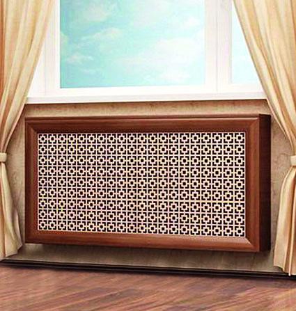 Фото декоративной конструкции с ротанговой вставкой