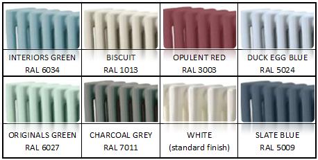 Фото радиаторов в разной цветовой гамме