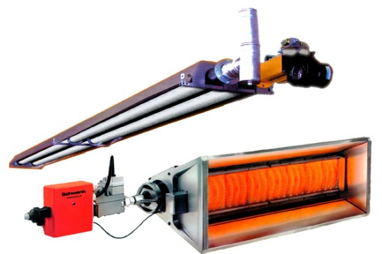 Газовые нагреватели для лучистого отопления