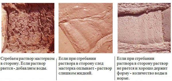 Глиняный кладочный раствор для печей должен быть определенной консистенции.