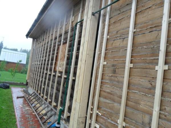 Готовая конструкция под утепление стен
