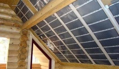 Инфракрасное плёночное отопление (ИПО) в мансарде