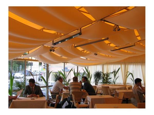 Инфракрасные потолочные обогреватели в кафе